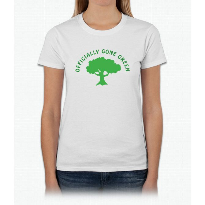 Earth Day Officially Gone Green Womens T-Shirt
