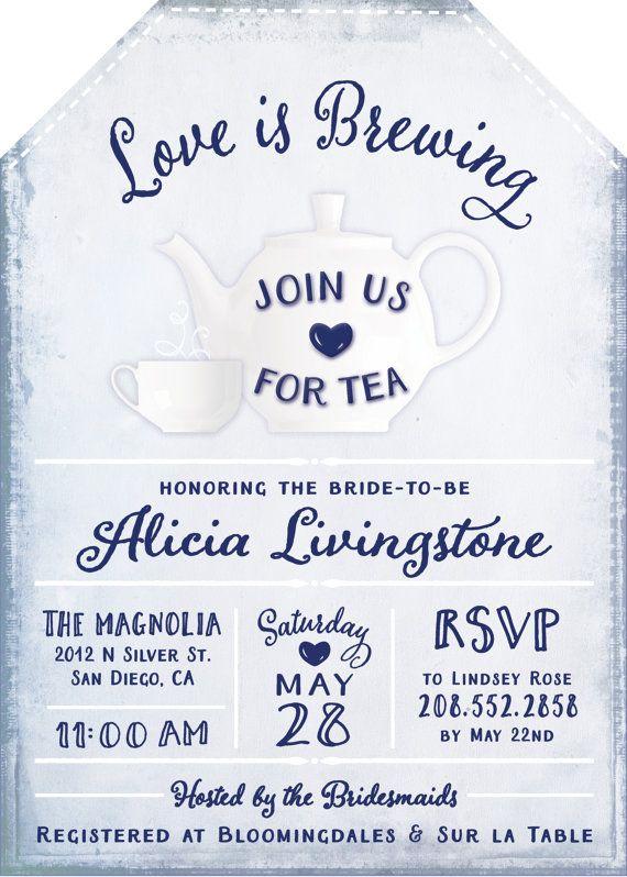Best 25 Tea party bridal shower ideas – Tea Party Wedding Shower Invitations