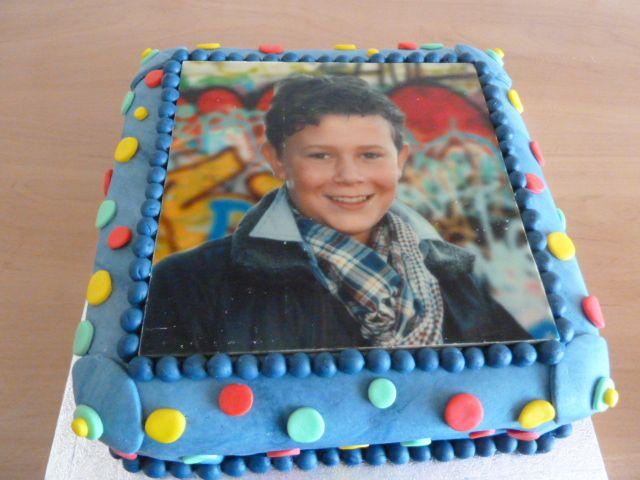 portretfoto taart