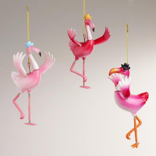 Flamingo Christmas Decorations: