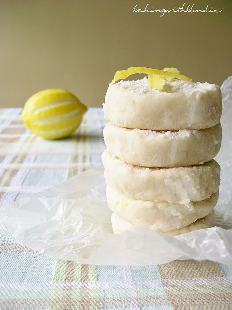 Lemon shortbread cookies, Shortbread cookies and Lemon on Pinterest