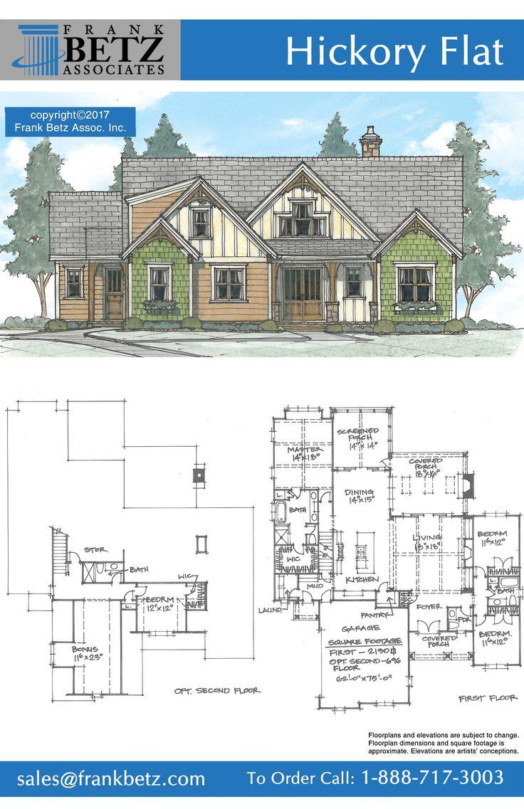 Hickory Flat is a 2130 sqft, 4 bdrm concept house plan designed by Frank Betz Associates Inc.