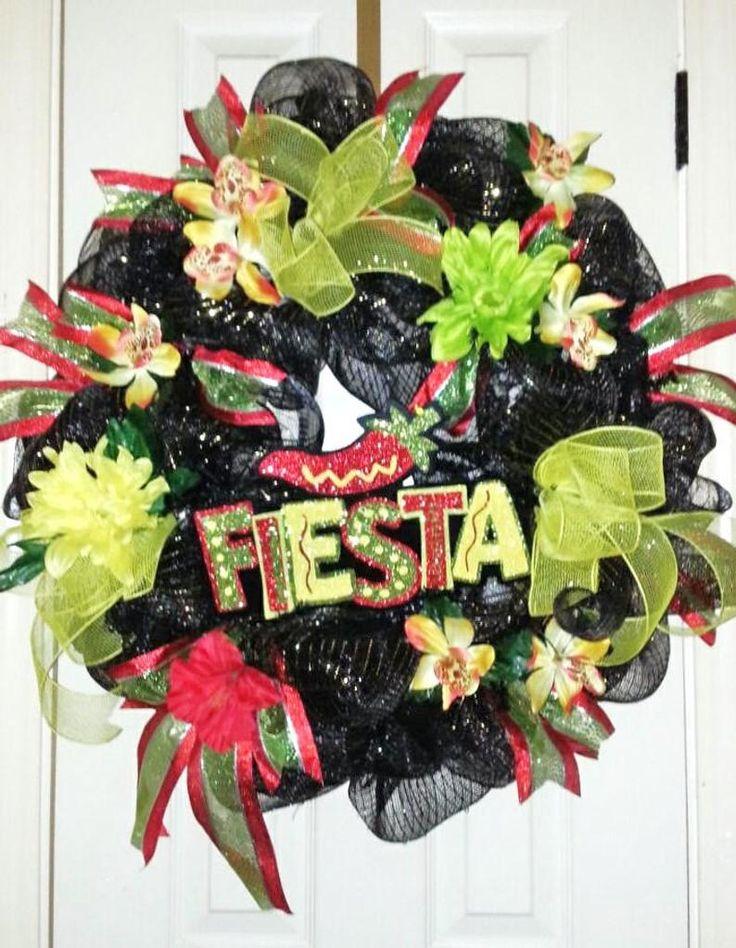 Fiesta wreath viva fiesta wreath cinco de mayo wreath
