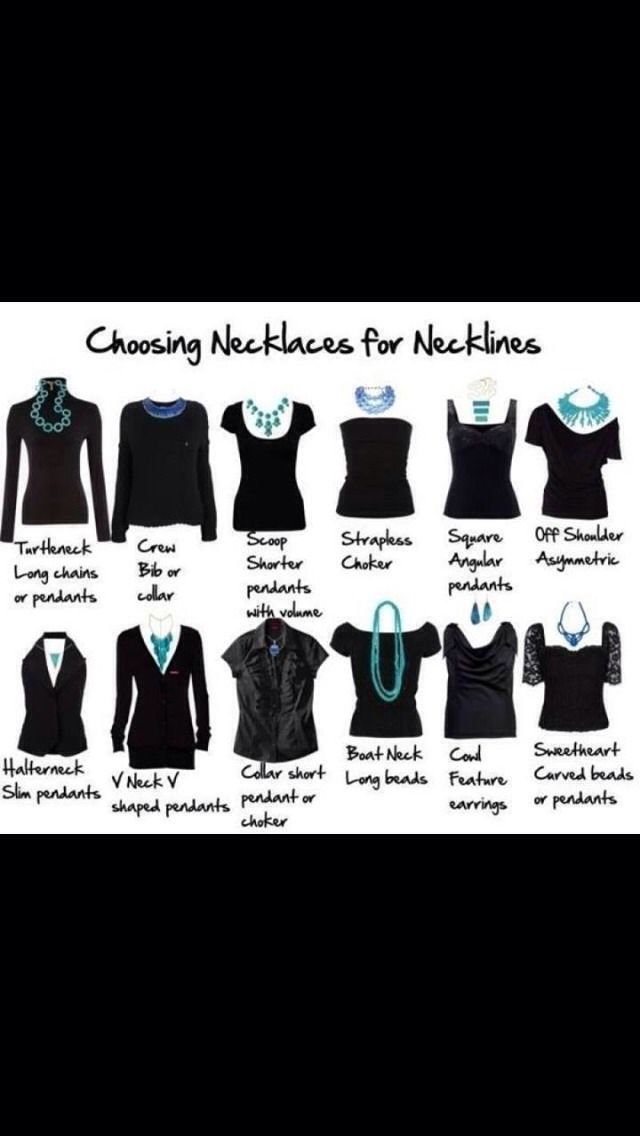 Which Necklace To Wear With Which Top??? | date night | Pinterest | Fashion, Necklace for neckline and Style