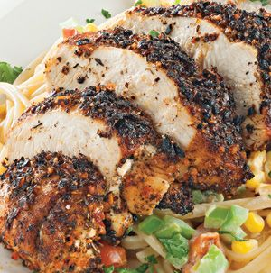 Got a cast iron skillet? Blackened Chicken was made for it. Simply rub chicken breasts with creole seasoning and sear in a smoking hot cast iron skillet for a little New Orleans flavor. Makes a great sandwich or slice and toss with fettucine alfredo.