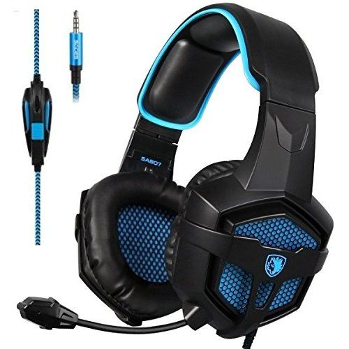 SADES SA807 Gaming Headset Multi-Platform New Xbox one PS4 Gaming Headphones Gaming Headsets Headphones For New Xbox one PS4 PC Laptop Mac iPad iPod (Black&Blue)