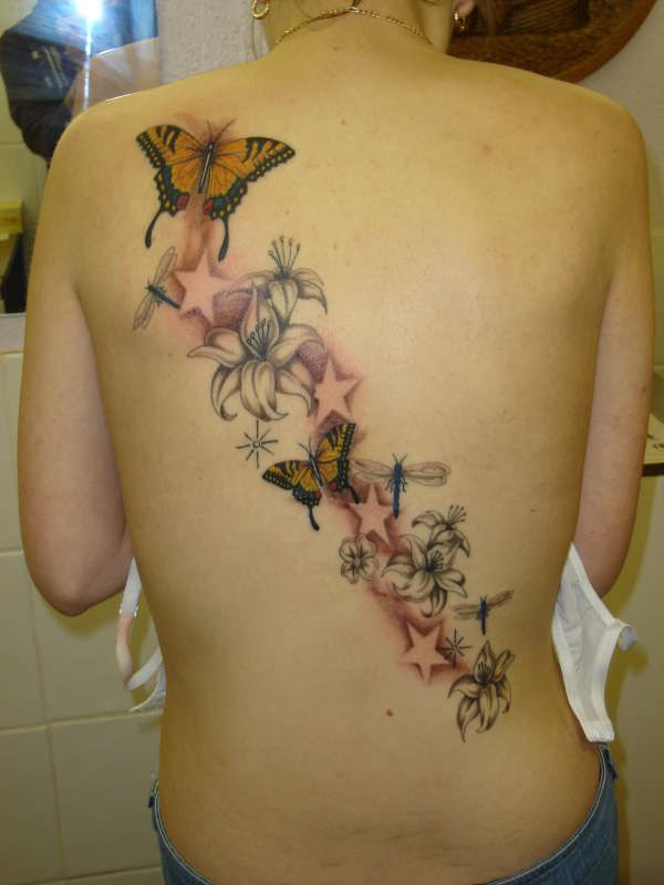 Butterfly Music Note Tattoos