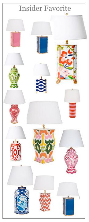 My Mother taught me the value of a sensational lamp. I have wonderful floor lamps, desk lamps. nightstand lamps, sconces, small bathroom and bedroom lamps too that stand out, and it is worth the investment. Hint: get the right lamp-shades too. They make a huge difference.
