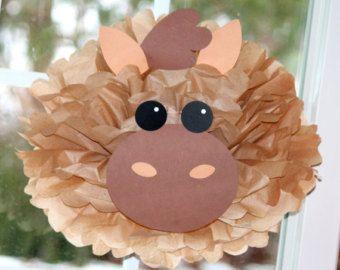 Sheep tissue paper pompom kit Old by TheLittlePartyShopNY on Etsy