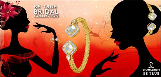 This beautiful bridal #jewellery from Ghanasingh Be True can be worn in a variety of styles to give you a new look, every time you wear it differently! #Fashion #BridalJewellery #LoveJewellery #Diva #BeTrueBride
