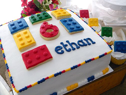 Lego birthday cake & cupcakes ~ My Sweet Things