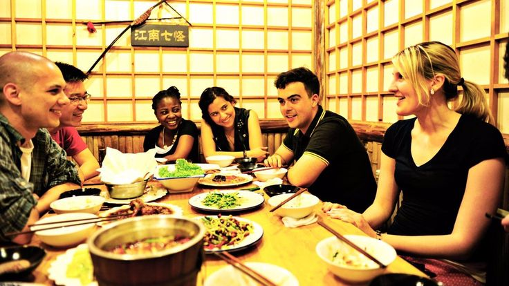 College Students Dinner Together In China | Living in Tianjin Living in Tianjin Accommodation Accommodation Campus ...
