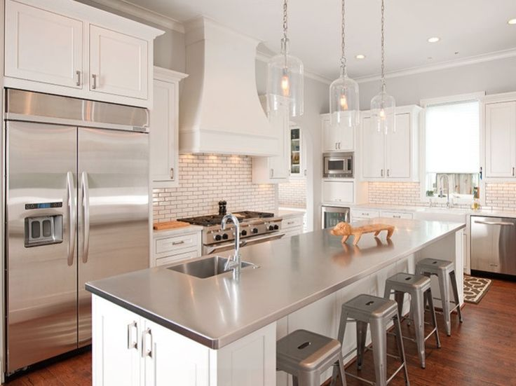 Genial Stainless Steel Island Counter Top W/ Marble Counter Tops Kitchens    Contemporary   Kitchen   Dallas   Holland Rogers Company, LLC