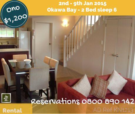 Christmas Holiday Resort Rentals - 2nd - 9th Jan 2015