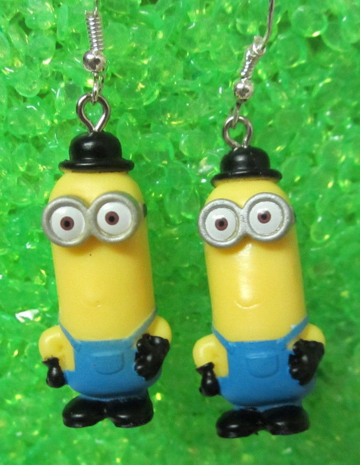 Nora Winn British Invasion Kevin Minions Movie Earrings 925 Hooks