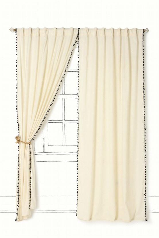 Best Pom Pom Fringe Images On Pinterest Pom Poms Pom Pom - Classic ball fringe curtains