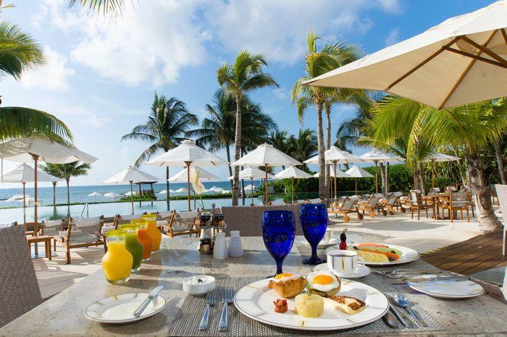 Breakfast Ocean View in our Bistro Restaurant at Grand Velas Riviera Maya. Enjoy it! #GVRivieraMaya #GrandVelas #VelasResorts