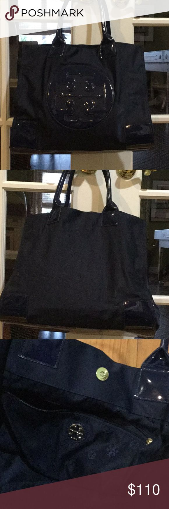 Tory Burch nylon tote bag Tory Burch French blue  nylon tote. Excellent condition. Interior zipper and side compartments for phone etc. Tory Burch Bags Totes