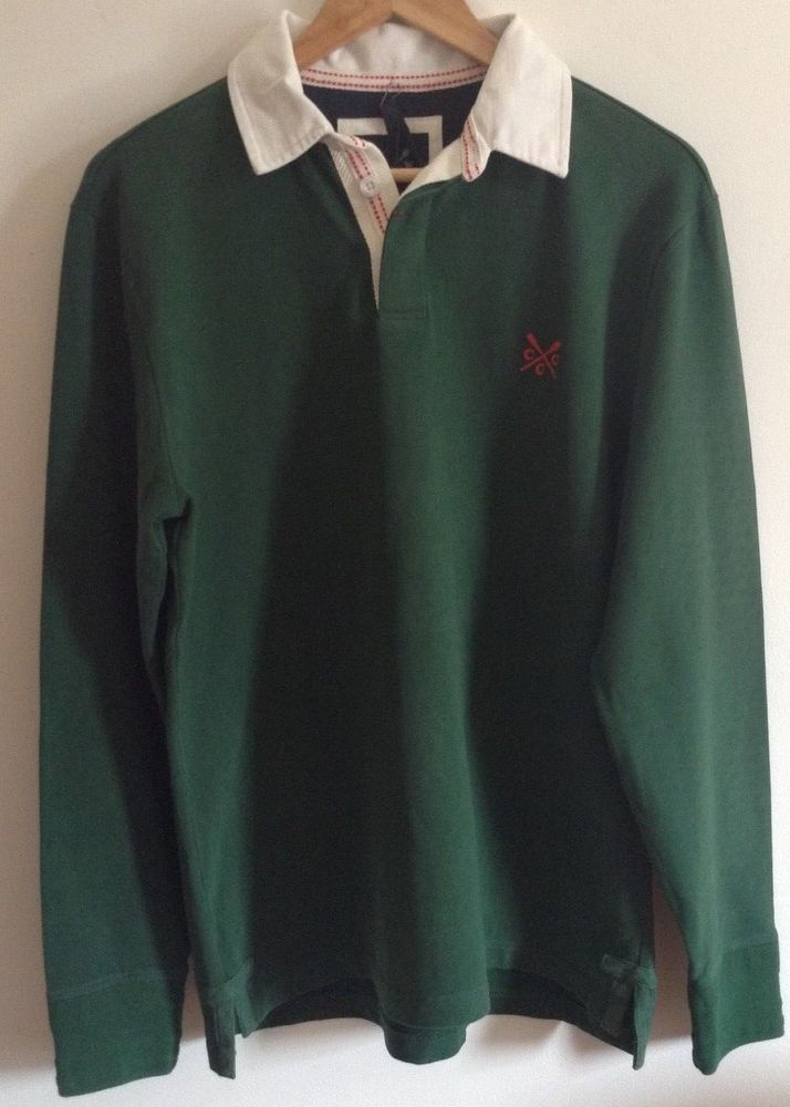0b183a220a0 BNWT MENS CREW CLOTHING GREEN MEDIUM CLASSIC RUGBY SHIRT RRP £60 ...