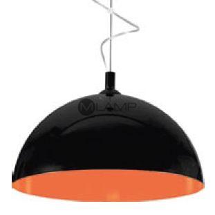 LAMPA wisząca HEMISPHERE L 6373 Nowodvorski metalowa OPRAWA zwis kopuła czarna pomarańczowa