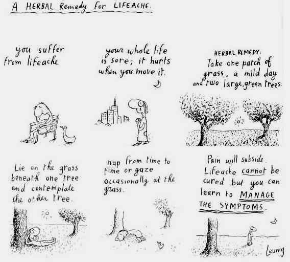 A herbal remedy for lifeache; Michael Leunig