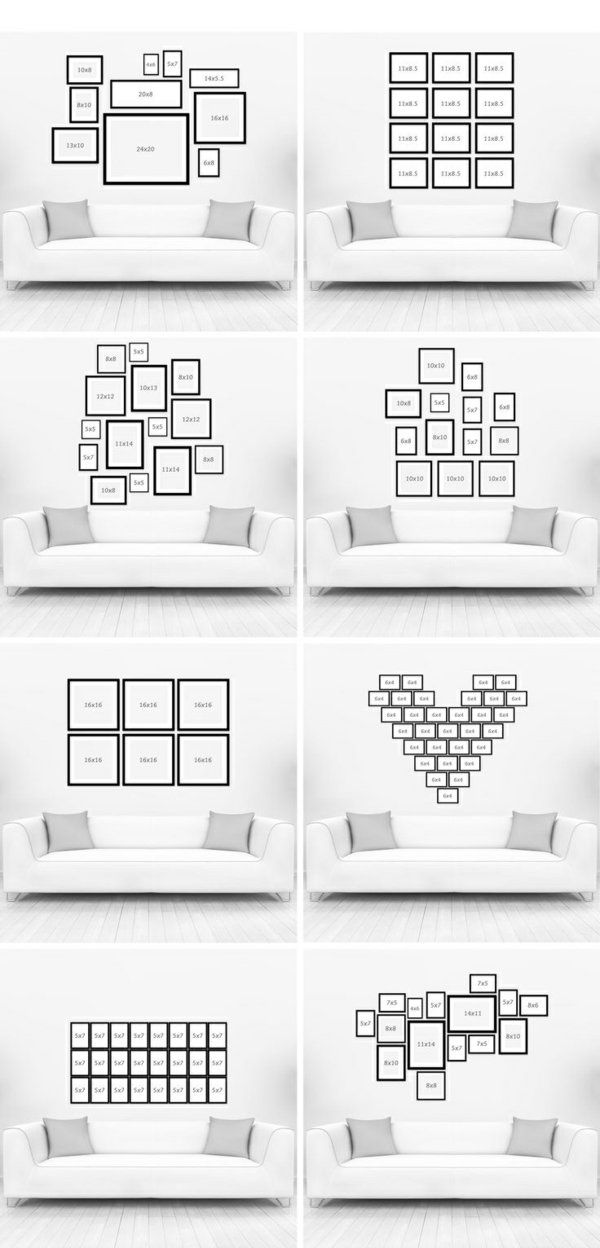 wohnzimmer wandgestaltung mit bildern ordnung reihenfolge