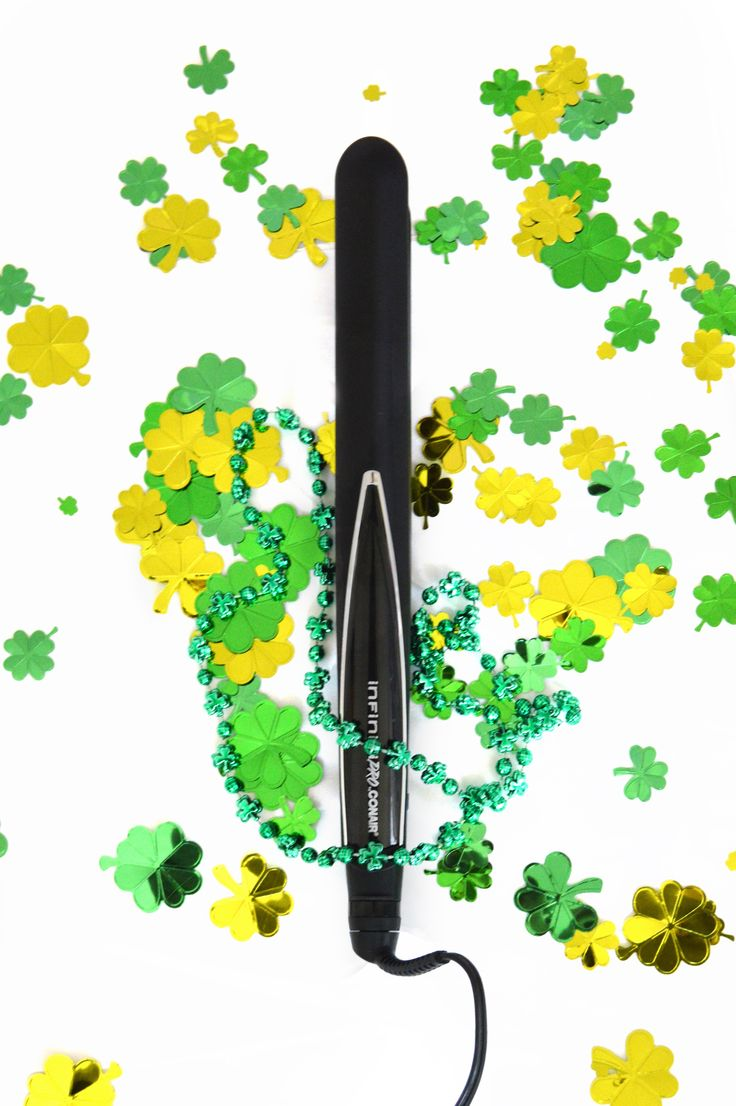 Wishing you a Happy Saint Patrick's Day! Go with Straight hair Styling on this festive day of celebrations! That's the 1 Inch Black Titanium Straightener by InfinitiPro by Conair!   Photo by - Emily VanWinkle