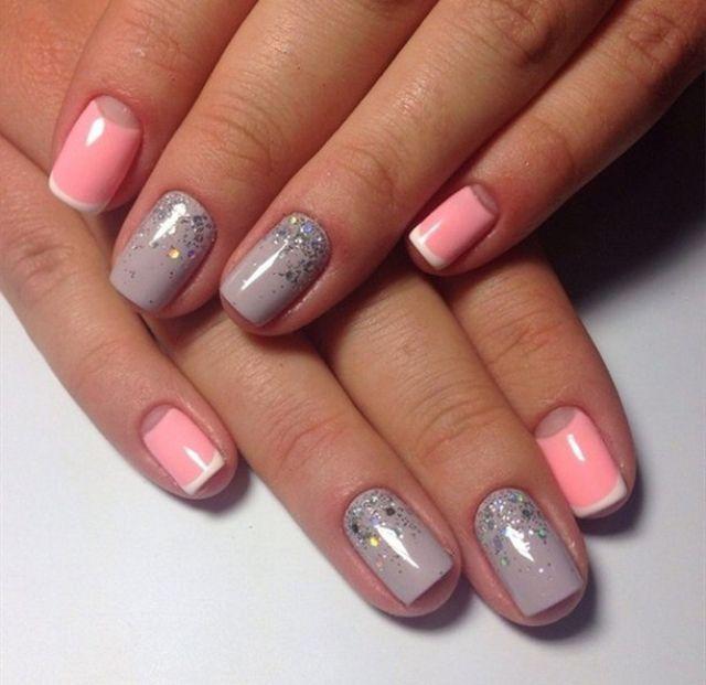 Маникюр на ногтях красивый