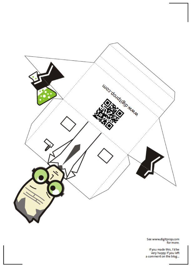 Porte Cartes Scientist Template