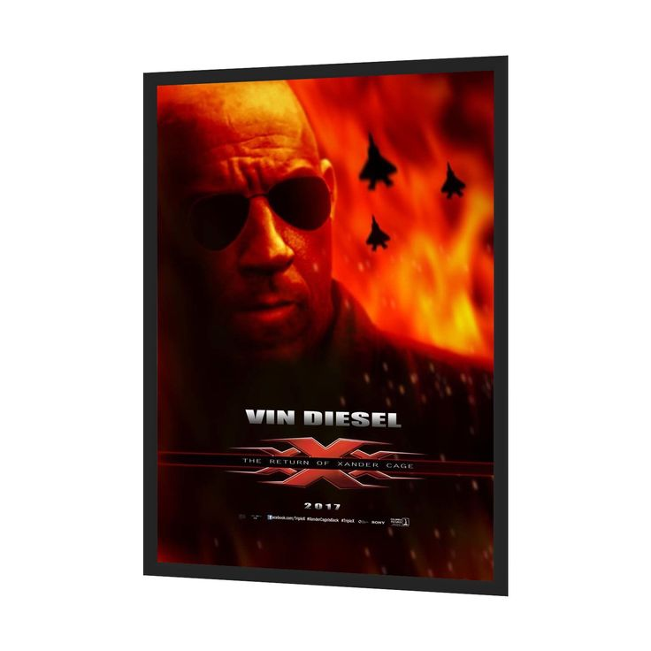 "Black Movie Poster Frame 27x40 Inches, SnapeZo 2"" Aluminium Profile, Front Loading Snap Display, Wall Mount"