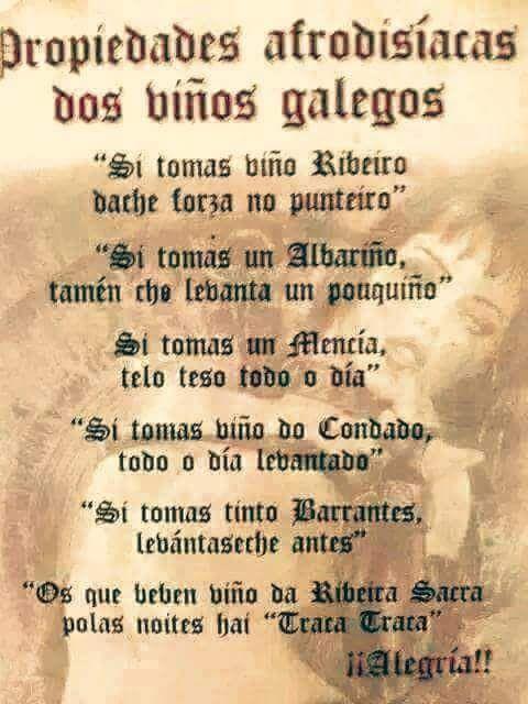 A tomar nota dos remedios caseiros! XD #vino #Galicia
