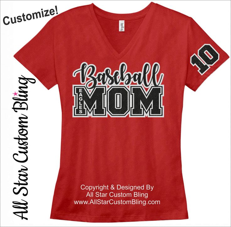 Baseball Mom Shirt, Baseball Mom Shirt, Mom Baseball Shirt, Custom Baseball Shirt, Baseball Mom Tee by AllStarCustomBling on Etsy