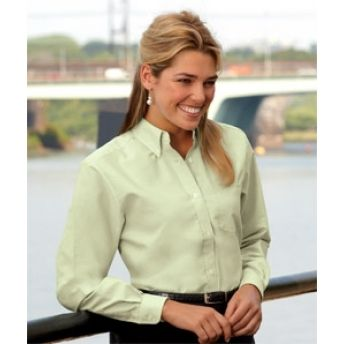 8990 UltraClub Ladies' Classic Wrinkle-Free Long-Sleeve Oxford. Buy at Wholesale rates.