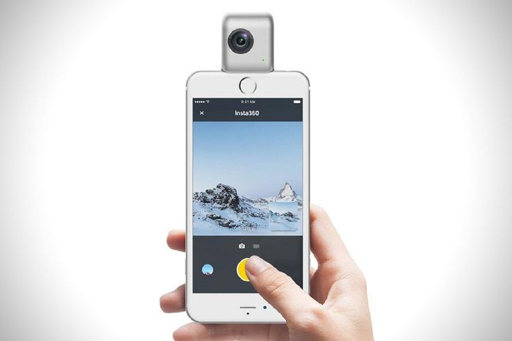 Finally a camera that elevates the art of taking a selfie to a whole new level. The Insta360 transforms your iPhone to a fully functional  360 degree video camera. It is basically two 210 degrees fisheye lenses put back to back that lets you record 3040x1520 3K resolution videos.