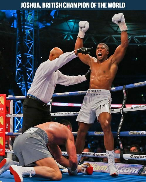 Anthony Joshua punched his way into boxing history last night, securing himself a golden future as the heavyweight champion of the world. The 27-year-old went 11 brutal rounds with Wladimir Klitschko before felling the Ukrainian with an uppercut before 90,000 fans at Wembley stadium, winning a purse of at least £15m.