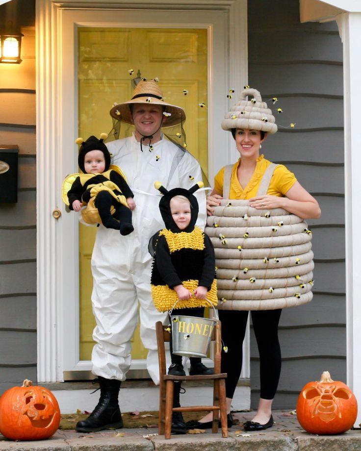 Kostüme für Familie - Imker, Bienenkorb und Bienen
