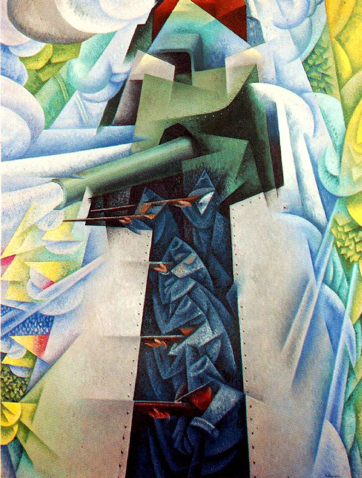 Carrà's Futurist phase ended around the time World War I began. His work, while still using some Futurist concepts, began to deal more clearly with form and stillness, rather than motion and feeling.