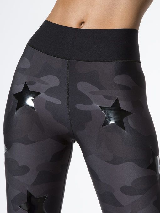 42fe436fa1b55a ULTRACOR Ultra High Silk Camo Knockout Leggings Nero/Patent Nero LEGGINGS