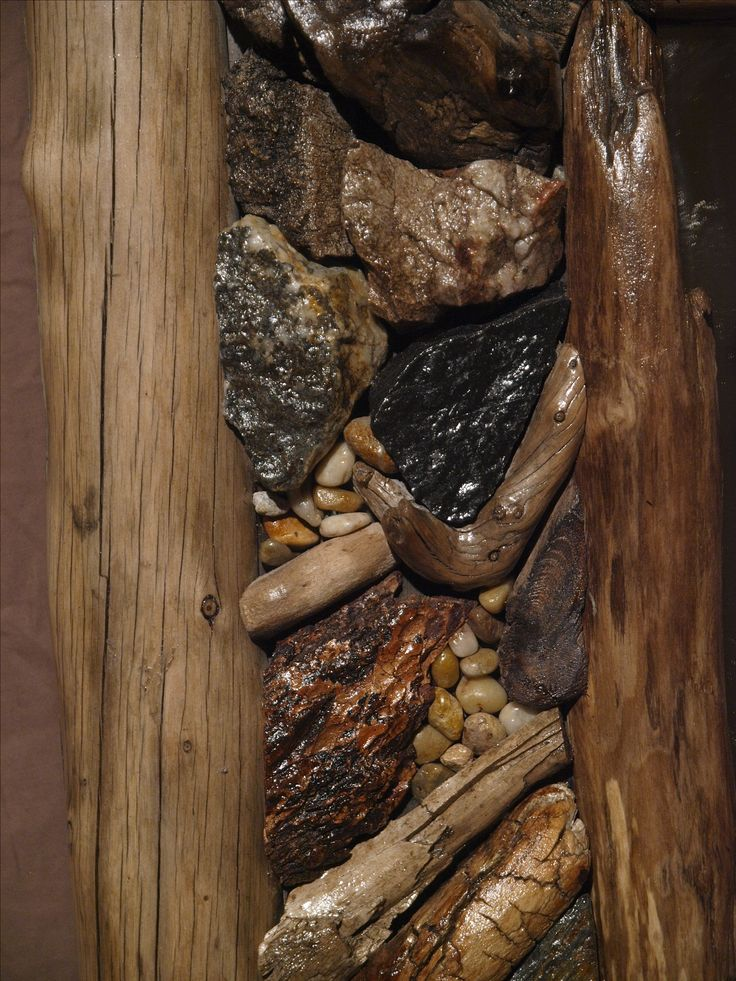 "Mother nature leaves behind the most beautiful things some would regard as simply "" bits and pieces of the forest, rocks, stones, scraps of wood, bark etc. My aim is to arrange these left behind parts of the places I love to visit, and create art that resonates with me. As you can see they are quite beautiful when displayed in such a way."