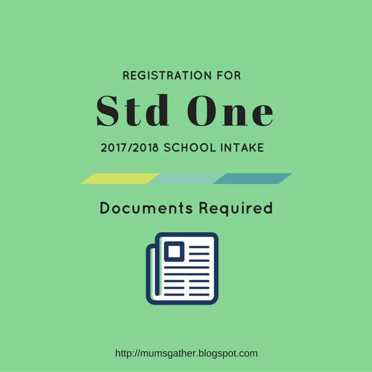 Registration For Primary School For 2017 & 2018 Intake - Documents Required ~ Parenting Times