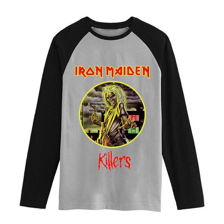 Iron maiden Vintage fashion men women size raglan full sleeves long sleeves t shirt item NO. FLBMSS-096