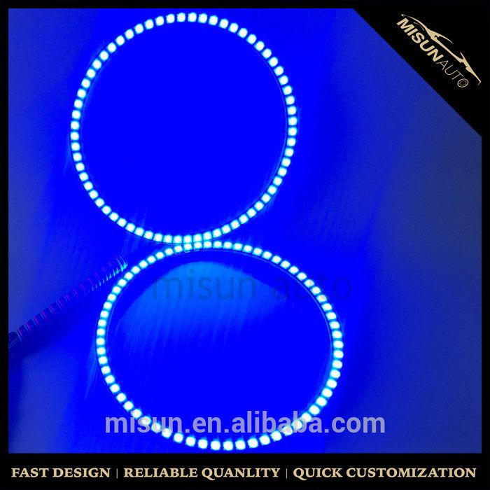 Blue color 2 x 90mm rgb halo rings headlights For ACURA TL 2004-2006