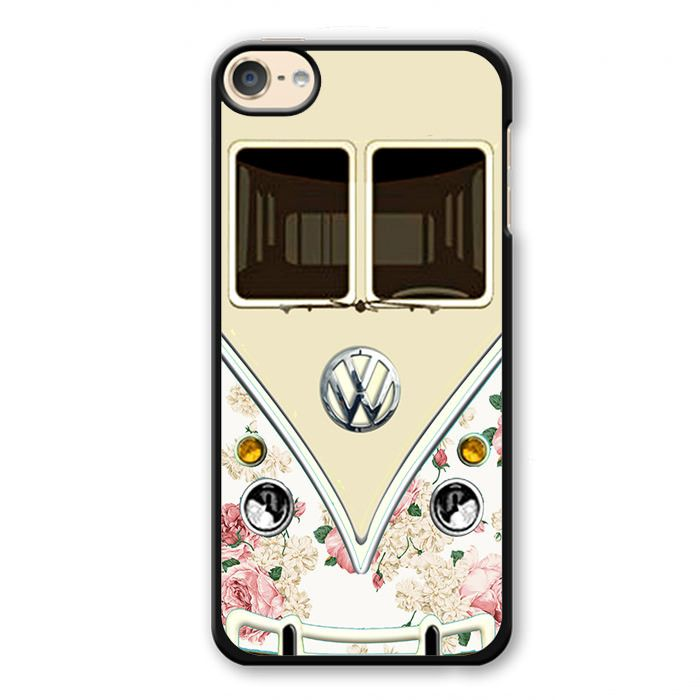 Pink Floral Vw Retro Bus Phonecase Cover Case For Apple Ipod 4 Ipod 5 Ipod 6