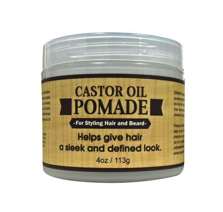 MEN Castor Oil Beard and Hair Pomade 4oz - OkayPureNaturals.com