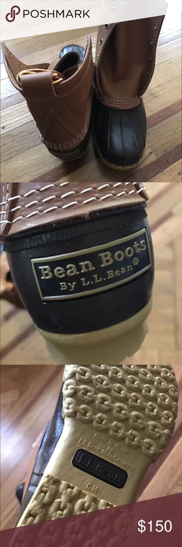 "L.L. Bean 8"" Bean Boot women's size 7. Never worn. Never worn. Will send in original shipping box. No tags - didn't ship with tags. Runs large. Normally a size 8 and sized down to 7. Tan and brown color. L.L. Bean Shoes Winter & Rain Boots"