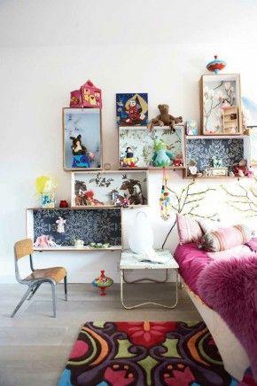 kisten kasjes idee kids slaapkamer
