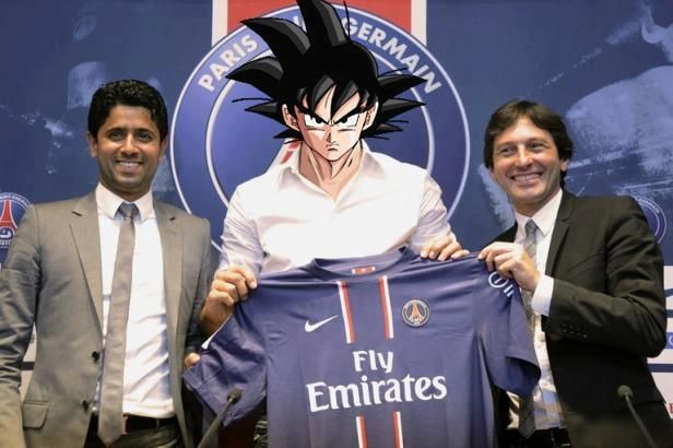Le PSG recrute Sangoku - http://www.2tout2rien.fr/le-psg-recrute-sangoku/