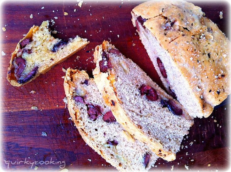 Caramelized Onion & Olive Spelt Bread | Quirky Cooking