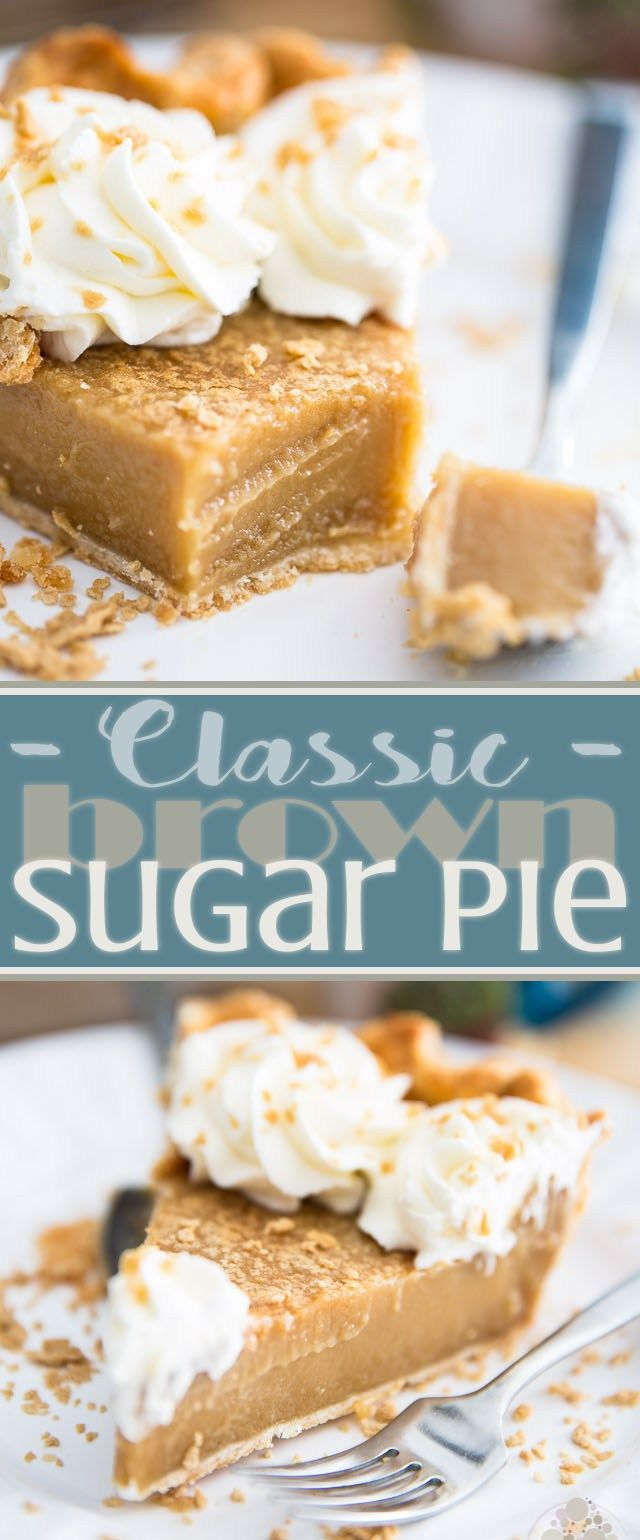 Classic Brown Sugar Pie | eviltwin.kitchen -- Seems like a variation of the Hoosier Cream Pie