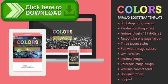 [ThemeForest]Free nulled download Colors - Paralax Bootstrap HTML5 Template from http://zippyfile.download/f.php?id=6908 Tags: bootstrap3, colorful, colors, flat, flat design, flat ui, full width, owl slider, parallax, portfolio, red, responsive, scroll, single, single page